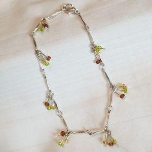 Jewelry - Silver Tone Beaded Ankle Bracelet